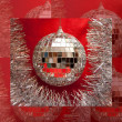 Christmas mirror ball - Stock Photo
