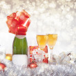 New Year composition with champagne — Stock Photo #17675463
