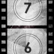 Grunge film countdown — Stock Photo