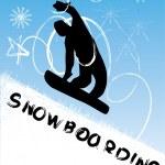 Snowboarding vector illustration — Stock Photo #17676219