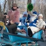 PENZA, RUSSIA - February 14. Celebration of Shrovetide (Maslenit — Stock Photo