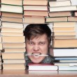 Man between books — Stock Photo #17676499
