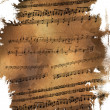 Old musical torn page - Stock Photo
