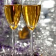 Two glasses of champagne — Stock Photo