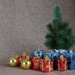 Christmas Tree and Gifts — Stock Photo #17676937