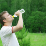 Man drinking water — Stock Photo #17677237