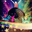 Abstract Rainbow Disco Music Background — Stock Photo