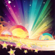 Abstract Rainbow Disco Music Background — Stock Photo #17677993