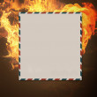 Burning letter — Stock Photo