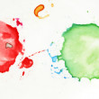 Colorful Splatters - Stock Photo