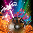 Background for Disco flyers with black Speaker — Stock Photo #17678615