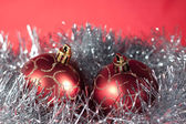 Christmas ball on abstract light — Stock Photo