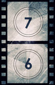 Grunge Film countdown — Stockfoto
