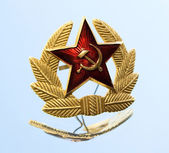 Military badge from the former Soviet Union — Stock Photo