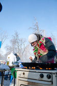PENZA, RUSSIA - February 14. Celebration of Shrovetide (Maslenit — Stock Photo