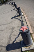 Pole on street — Stock Photo