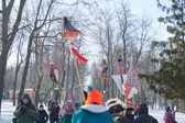 PENZA, RUSSIA - February 14. Celebration of Shrovetide — Stock Photo