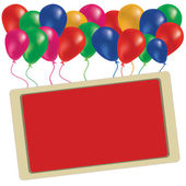 Mooie kleur ballon in de lucht — Stockfoto