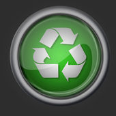 Recycle button icon symbol — Stock Photo