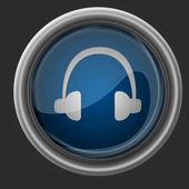 Headphones beautiful icon — Stock Photo