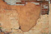 Rift on old brick wall — Stock Photo
