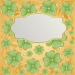 Retro vector background for St. Patrick — Stock Vector