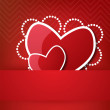 Valentine's heart in pocket — Stock Vector