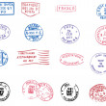 Blank postmarks — Stock Vector