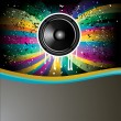 Rainbow Colorful Discotheque Event Flyer — Stock Vector