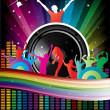 Music colorful disco illustration — Stock Vector