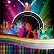 Music colorful disco illustration — Stock Vector #18091281