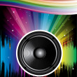 Rainbow Disco Background — Stock Vector #18091315