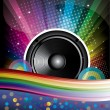 Stock Vector: Rainbow Disco Background