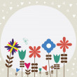 Vintage retro flower background - Stock Vector