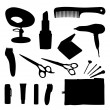 Royalty-Free Stock Imagen vectorial: Hair equipment