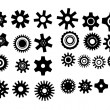 Poster with gearwheel. vector illustration black and white — Stock Vector