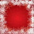 Stock Vector: Christmas red background with snowflakes