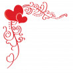 Hearts of love — Stock Vector