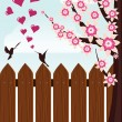 Bird's love - Stock Vector