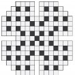An empty crossword puzzle - Image vectorielle