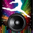 Speakers and dancer — Stock Vector