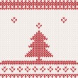 Knitted background with Christmas tree — Stock Vector #18093493