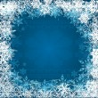 Stock Vector: Christmas blue background