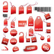 Vector set of tags - Stok Vektör