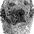 Fingerprint black on white vector illustration — Stock Vector #18093631