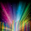 Vector illustration rainbow background - Stock Vector