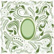 Happy Easter green card — Stock Vector