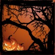 Halloween vector illustration scene - Image vectorielle
