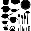 Kitchen utensil silhouette — Stock Vector