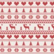 Stockvector : Knitted christmas pattern